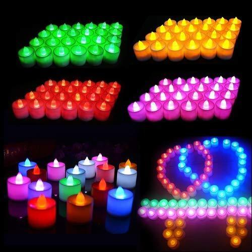 0241 Festival Decorative - LED Tealight Candles (Multi, 24 Pcs)