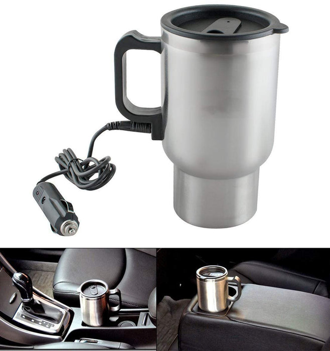 551 -12V Car Charging Electric Kettle Mug (Silver)