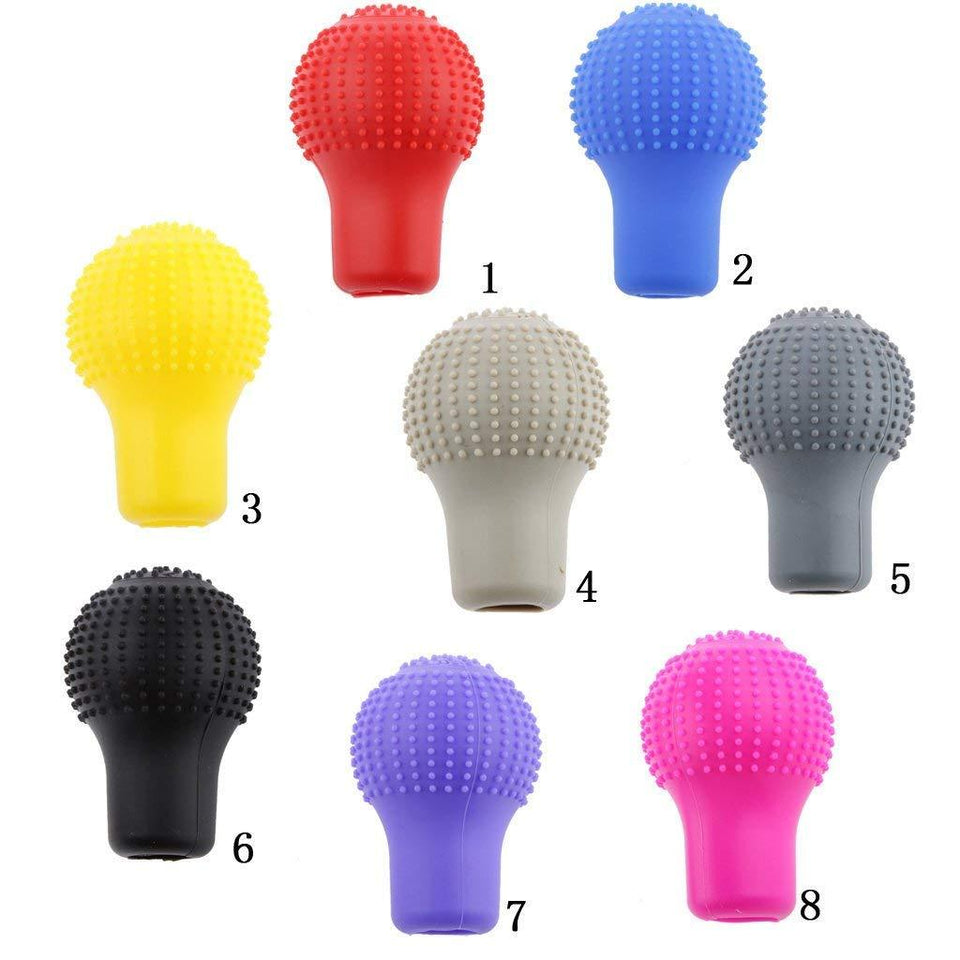 Your Brand Silicon Gear Shift Knob Protective Cover with Microfiber Glove