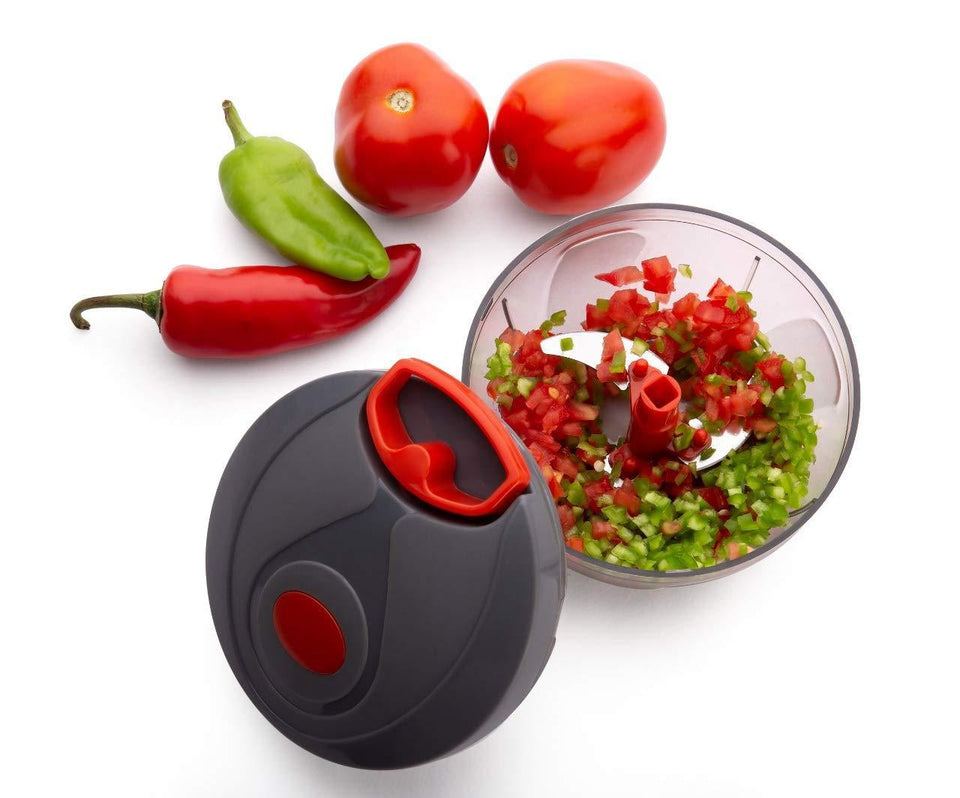 080 Manual Food Chopper, Compact & Powerful Hand Held Vegetable Chopper/Blender