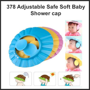 0378 Adjustable Safe Soft Baby Shower cap - DeoDap