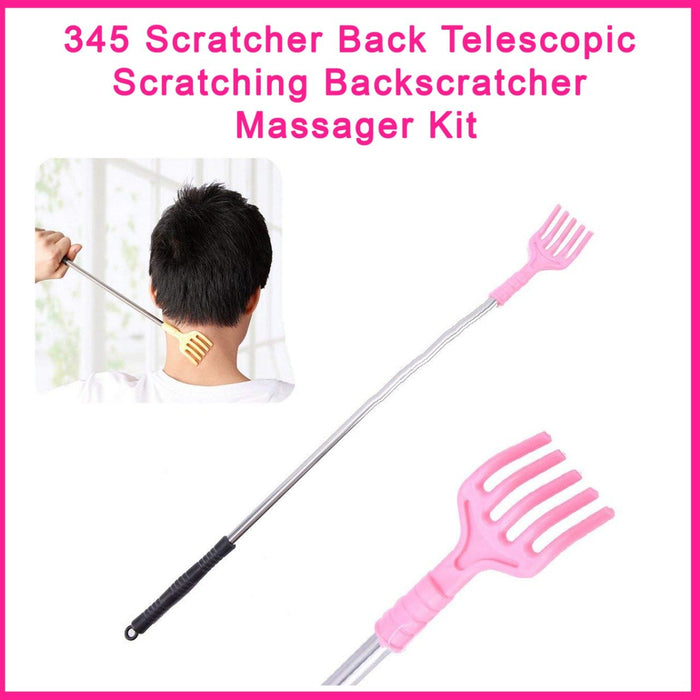 0345 Scratcher Back Telescopic Scratching Backscratcher Massager Kit - DeoDap