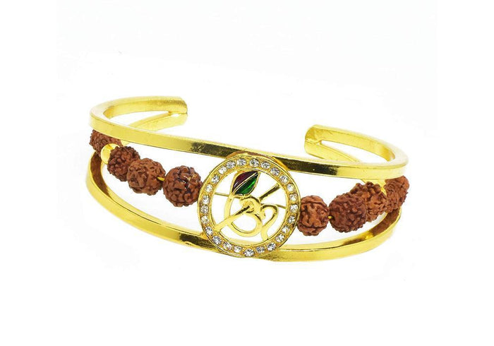 RK05- Unique & Stylish Brass Gold Plated Bracelet for Men / Women (RK05)