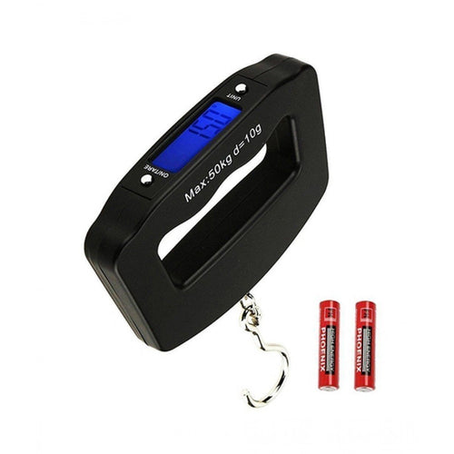 548 Black Digital Portable Luggage Scale with LCD Backlight (50 kg)