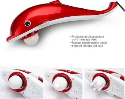 1221 Dolphin Handheld Body Massager to Aid Pain and Stress - DeoDap