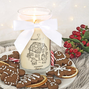 gingerbread cookies scented candle with jewel jewelcandle gallery 2