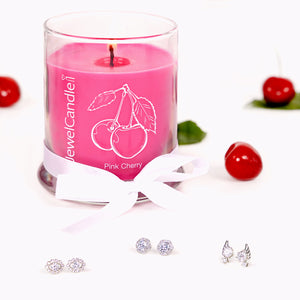 jewelcandle bougie bijou pink cherry 3