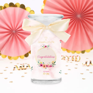 congratulations scented candle with jewel jewelcandle product picture big int