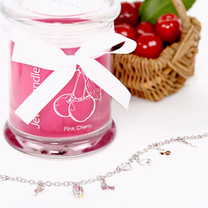jewelcandle bougie bijou pink cherry 2