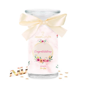 Congratulations scented candle with jewel jewelcandle cut big int