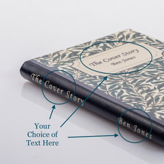 PERSONALISED BOTANICAL BOOK COVER CASE for the General: Front cover