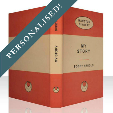 ORANGE PERSONALISED RETRO BOOK COVER CASE for the Kobo Glo