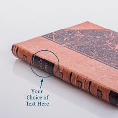 PERSONALISED MARBLED BOOK COVER CASE for the General: Front cover