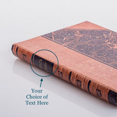 PERSONALISED MARBLED BOOK COVER CASE for the Kindle 7: Front cover