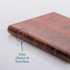 PERSONALISED TAN BOOK COVER CASE for Any Device: Front cover