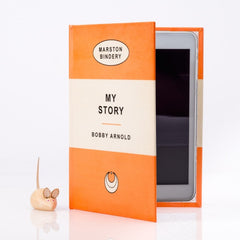 ORANGE PERSONALISED RETRO BOOK COVER CASE for Any Device: Inner Cover