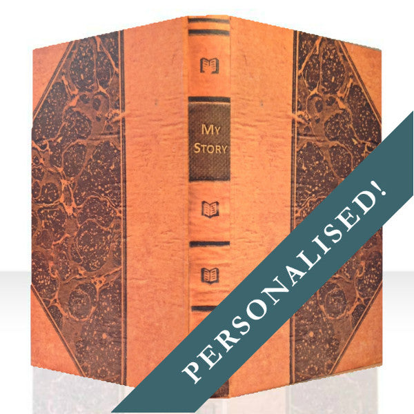 PERSONALISED MARBLED BOOK COVER CASE for the General: Full Cover