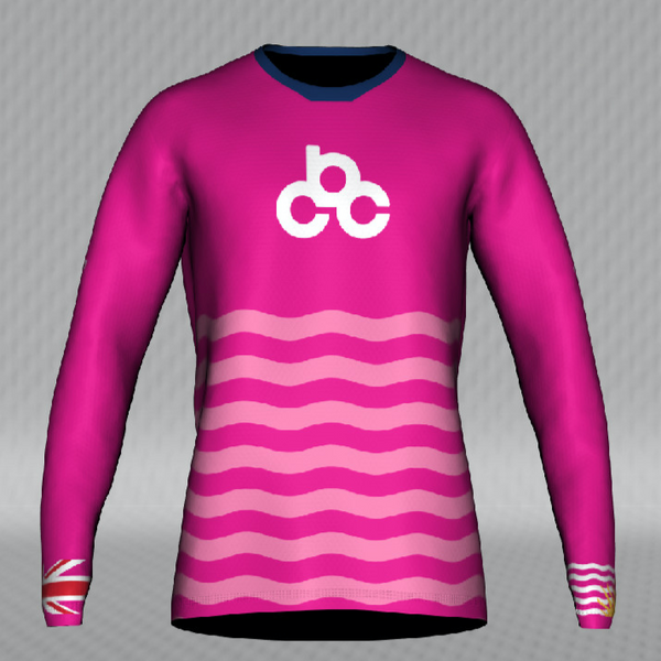 2020 Cycling BC Pink Jersey - Adult Flow Long Sleeve