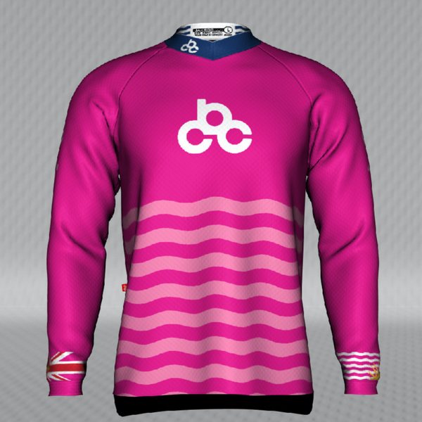 2020 Cycling BC Pink Jersey - YOUTH Ridgeline Long Sleeve