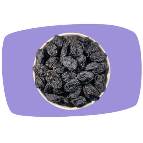 Raw Black Raisins, 500g