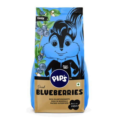 Raw Dried Blueberries, 200g