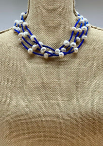 ARDEN NECKLACE -  001 - ROYAL BLUE
