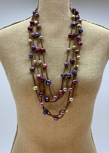 BRE NECKLACE - 002 -BROWN/MULTI - 1 ONLY