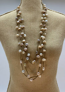 BRE NECKLACE  - 002 - TAUPE/NATURAL PINK