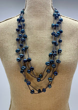 Load image into Gallery viewer, BRE NECKLACE  - 002 - GREY/BLUE