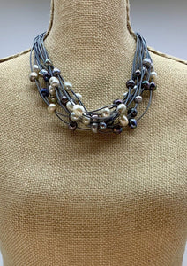 GINETTE NECKLACE -  004 - GREY MIX