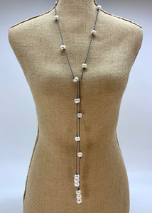 ERIN NECKLACE  GREY-WANTED 1 ONLY