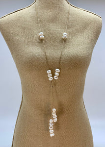 TAMMY NECKLACE  053 - BEIGE WHITE