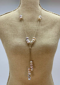 TAMMY NECKLACE  053 - BEIGE PINK