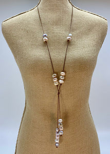 TAMMY NECKLACE  053 - BROWN PINK