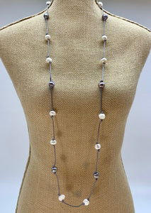 RUBY NECKLACE - 074 - GREY