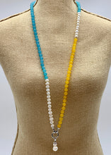 Load image into Gallery viewer, YARA NECKLACE  - 105 - TEAL/YELLOW