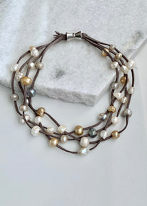 ARDEN NECKLACE -  001 - DARK GREY/MIX