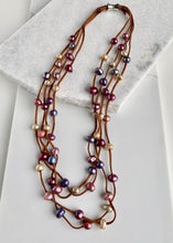 Load image into Gallery viewer, BRE NECKLACE - 002 -BROWN/MULTI - 1 ONLY