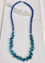 Load image into Gallery viewer, LAPIS & APATITE NECKLACE - WANTED ONE OF A KIND
