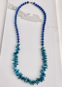 LAPIS & APATITE NECKLACE - WANTED ONE OF A KIND