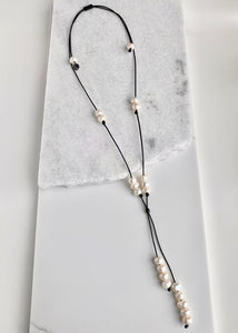 TAMMY NECKLACE - 053 - BLACK WHITE