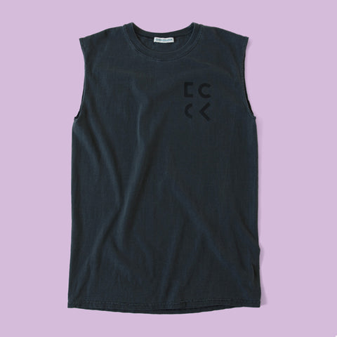 Cher Coulter '1985' Sleeveless T.Shirt in Graphite