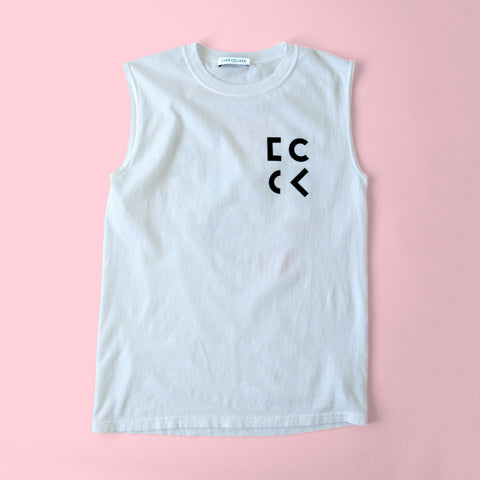 Cher Coulter '1985' Sleeveless T.Shirt in White