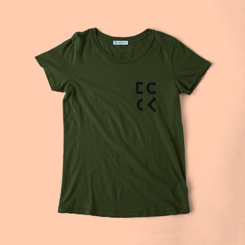 Cher Coulter '1985' Short Sleeve T.Shirt in Evergreen