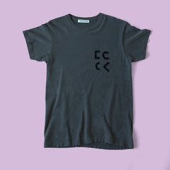 Cher Coulter '1985' Short Sleeve T.Shirt in Graphite