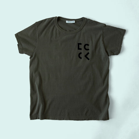 Cher Coulter '1985' Short Sleeve T.Shirt in Sage