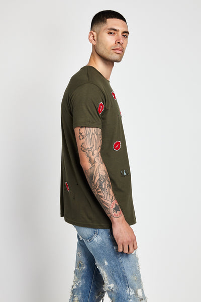 EMBROIDERY SERIES GREEN T-SHIRT-SHIRTS-Mundane Official-L-Mundane Official