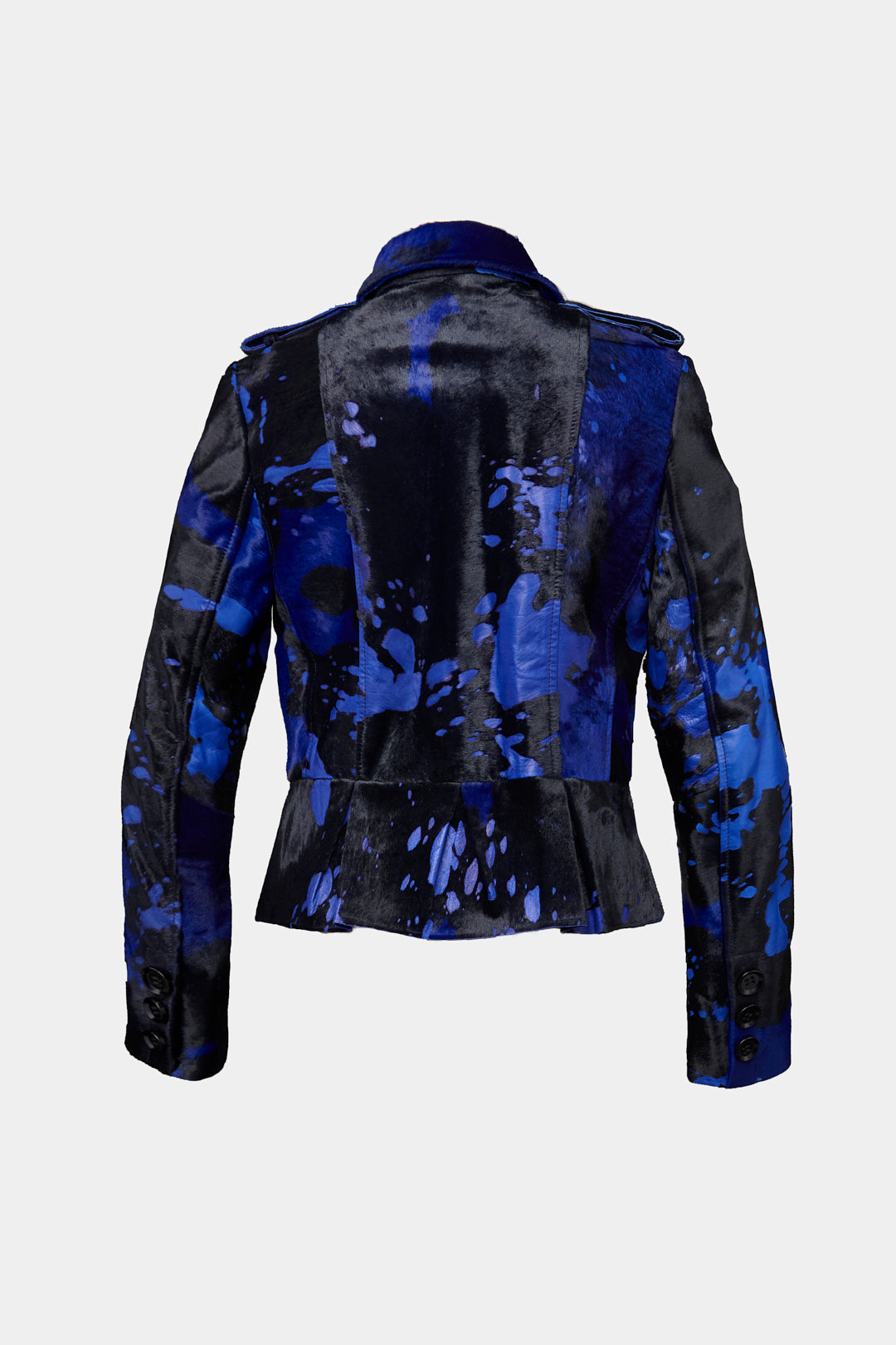 SNOWDROP LEATHER JACKETS DYED IN BLUE
