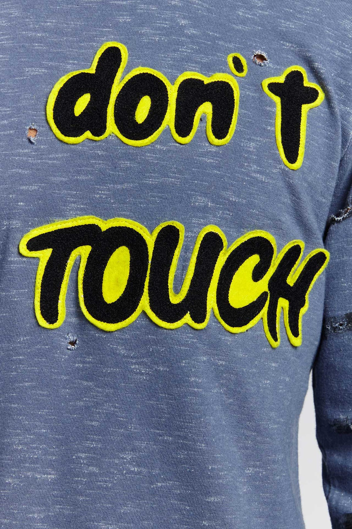 DON'T TOUCH COTTON BLUE LARGE SWEATER-SHIRTS-Mundane Official-Light Blue-L-Mundane Official