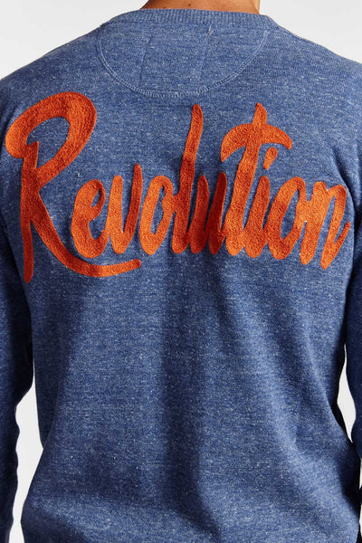 VINTAGE REVOLUTION COTTON LARGE CARDIGAN (Made to Order)-JACKETS-Mundane Official-L-Blue-Mundane Official